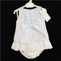 Baby Girl Spanish Blue Silky A Line Dress with pants